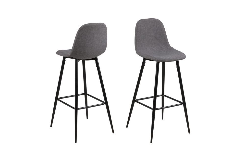 Designová barová židle Alphonsus světlešedá
