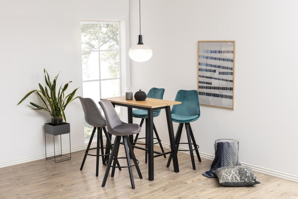 Designová barová židle Nascha lahvově zelená-černá