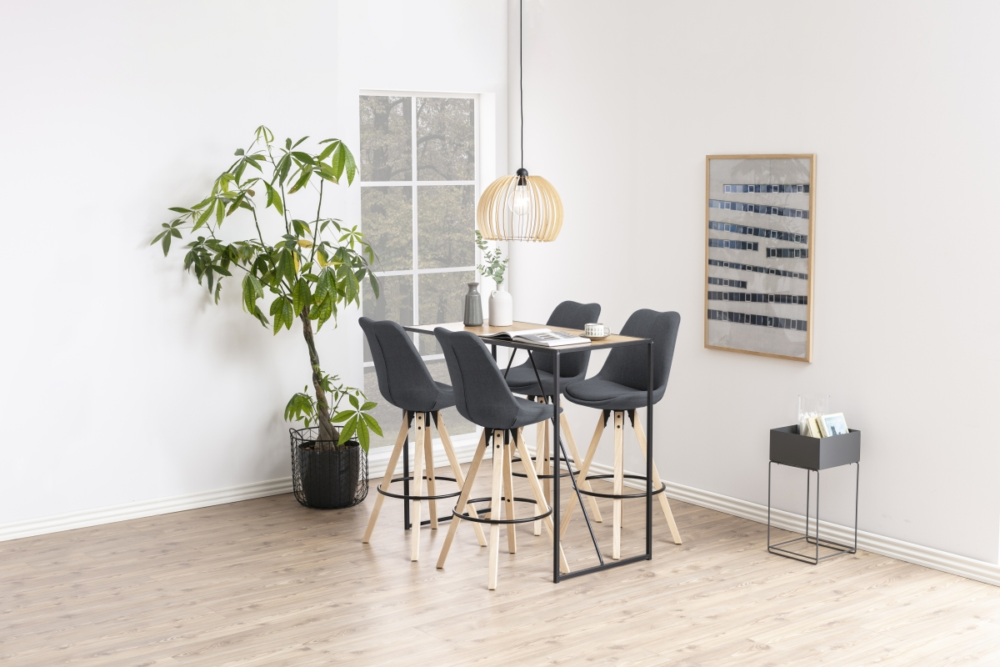 Designová barová židle Nascha světle šedá