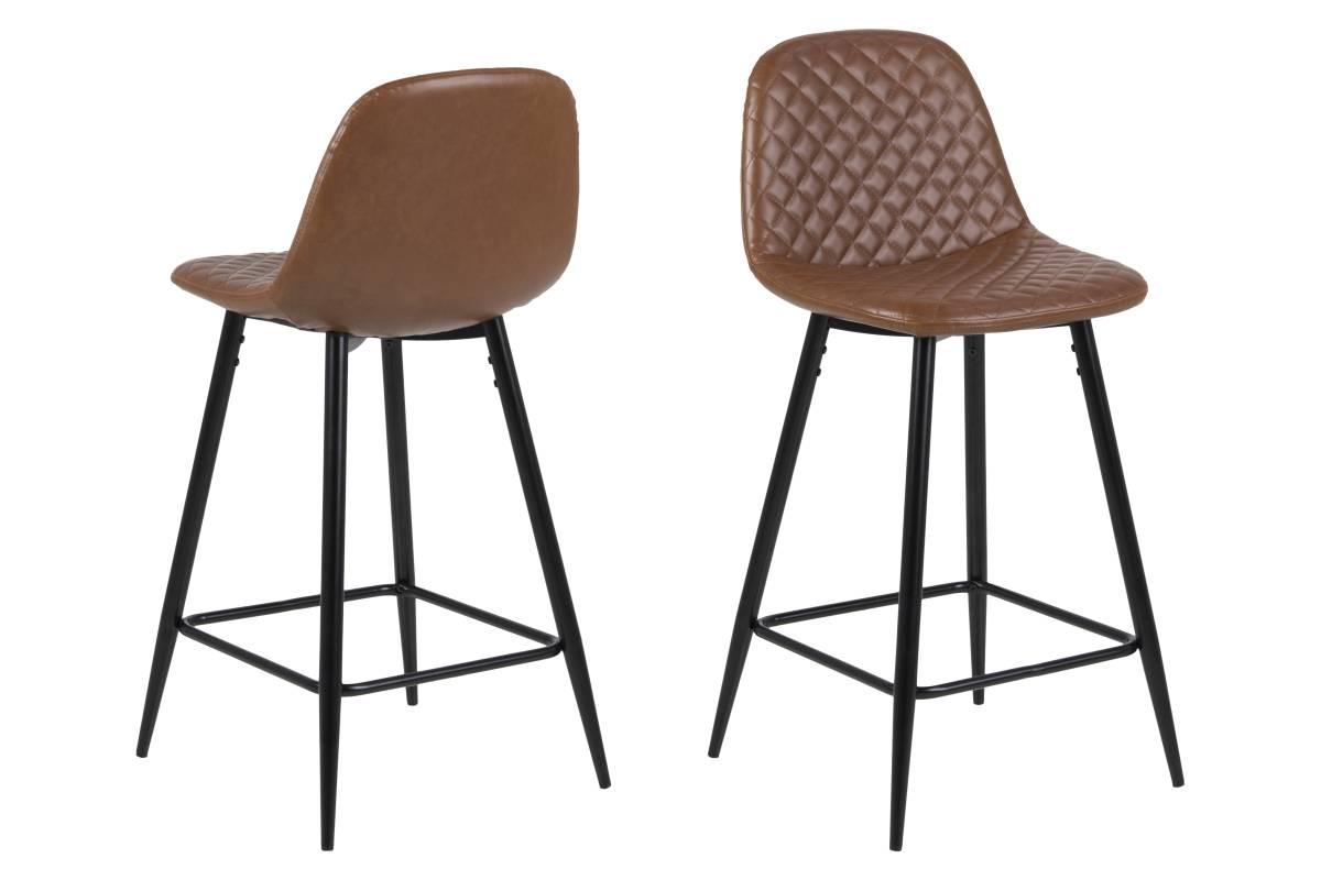 Designová barová židle Nayeli brandy a černá 91 cm