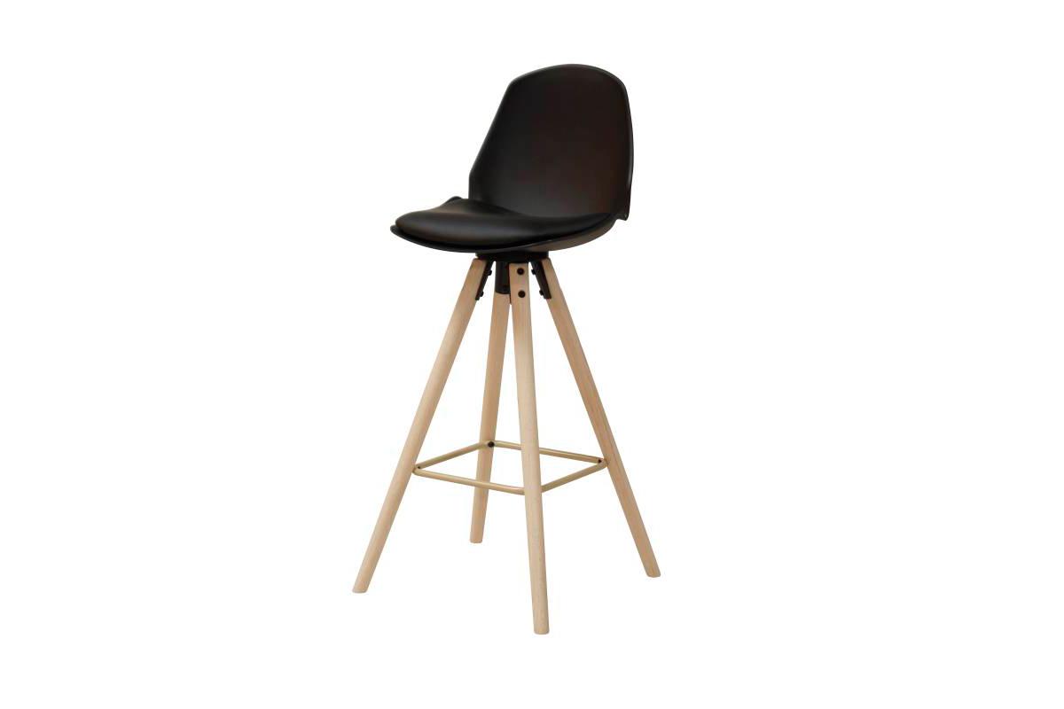 Designová barová židle Nerea černá