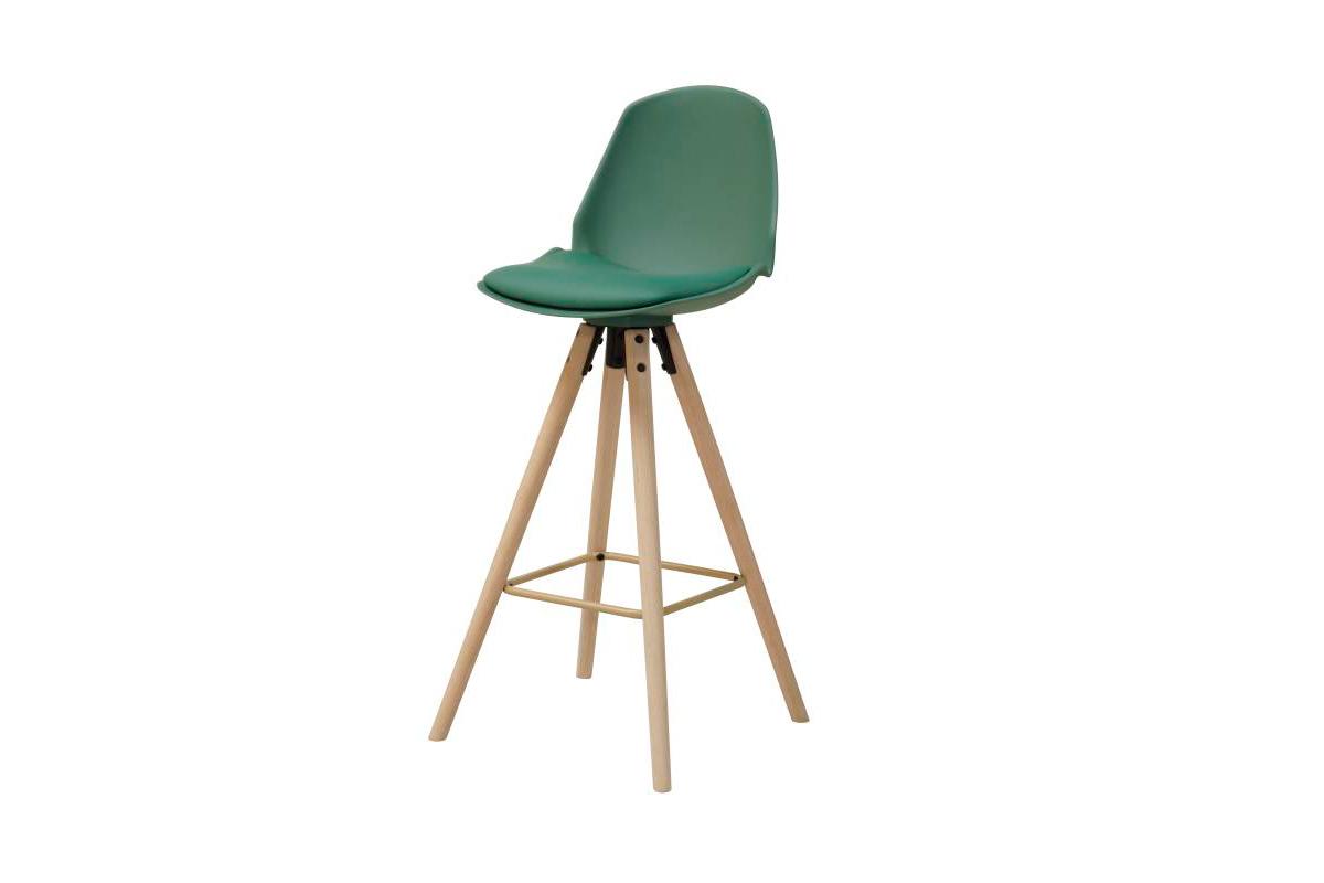 Designová barová židle Nerea mrazivá zelená