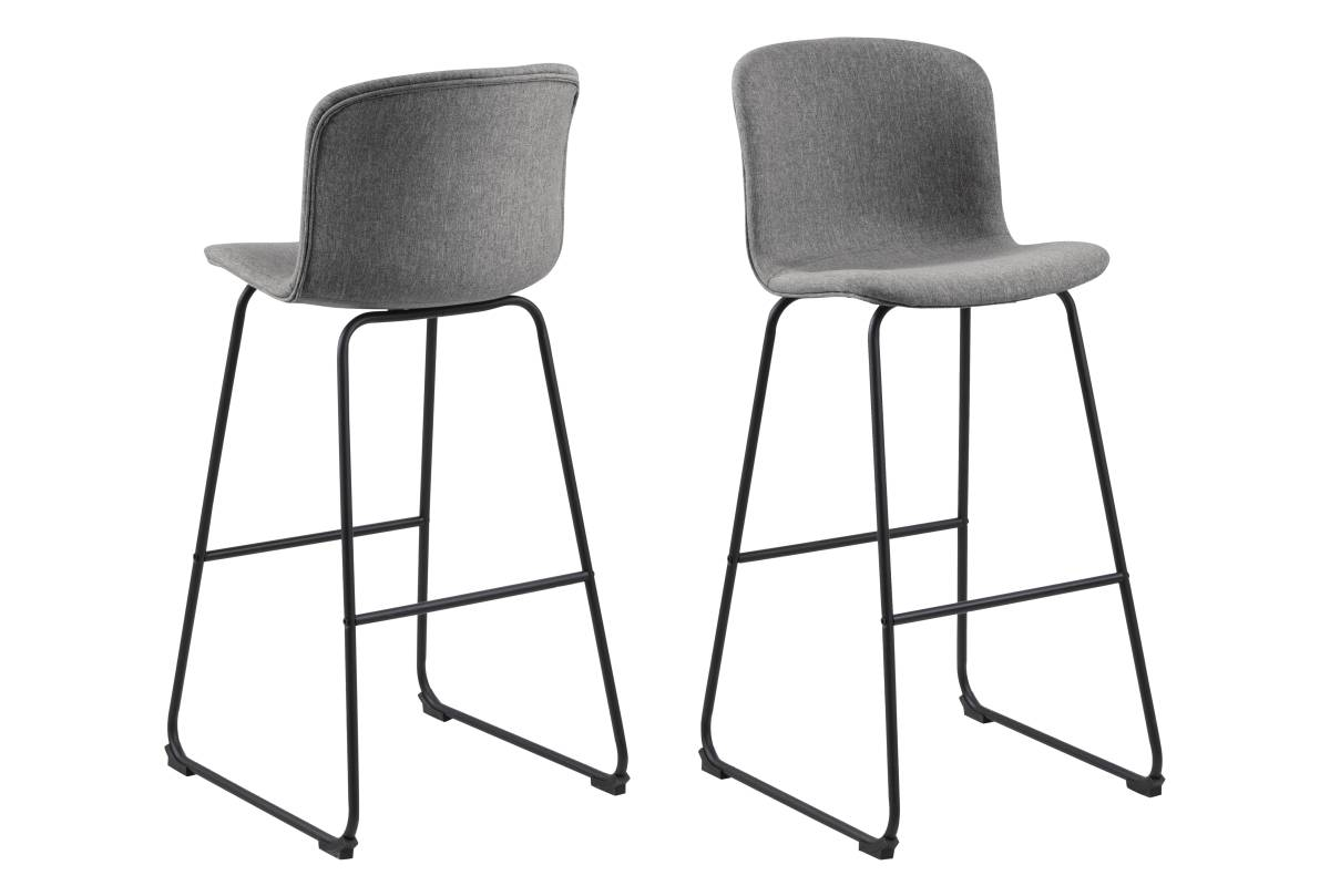 Designová barová židle Nerilla šedá