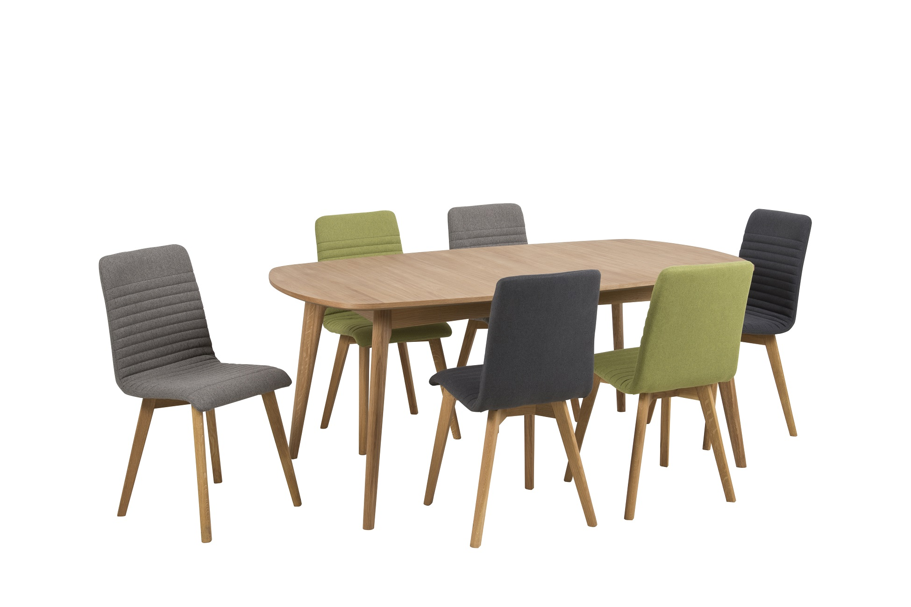 Designová jídelní židle Alano zelená