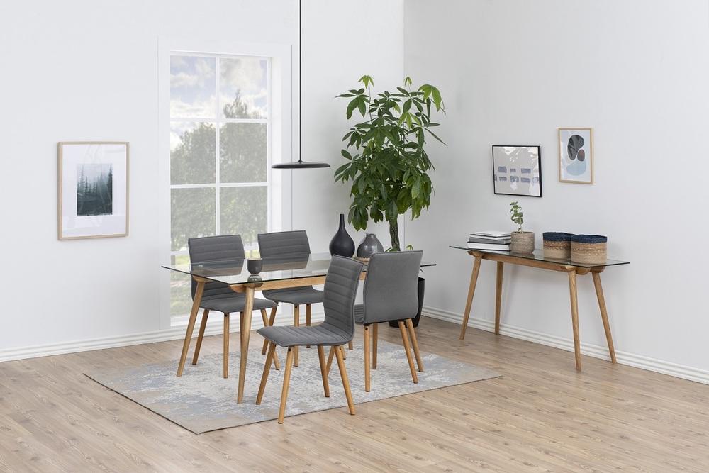 Designové jídelní židle Alberic světlešedá