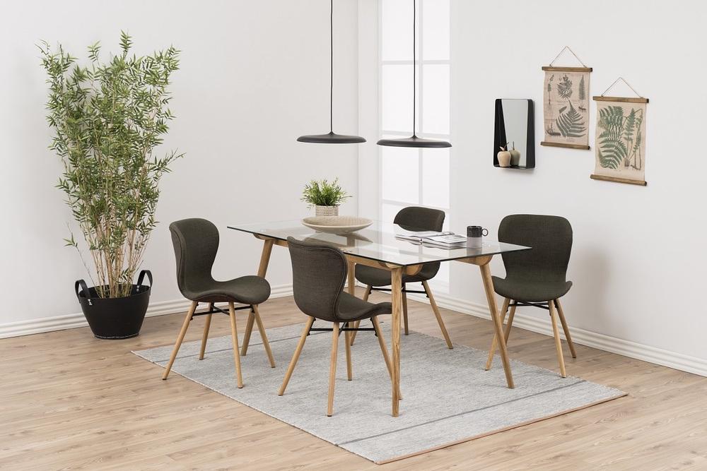 Designová jídelní židle Alejo kaki