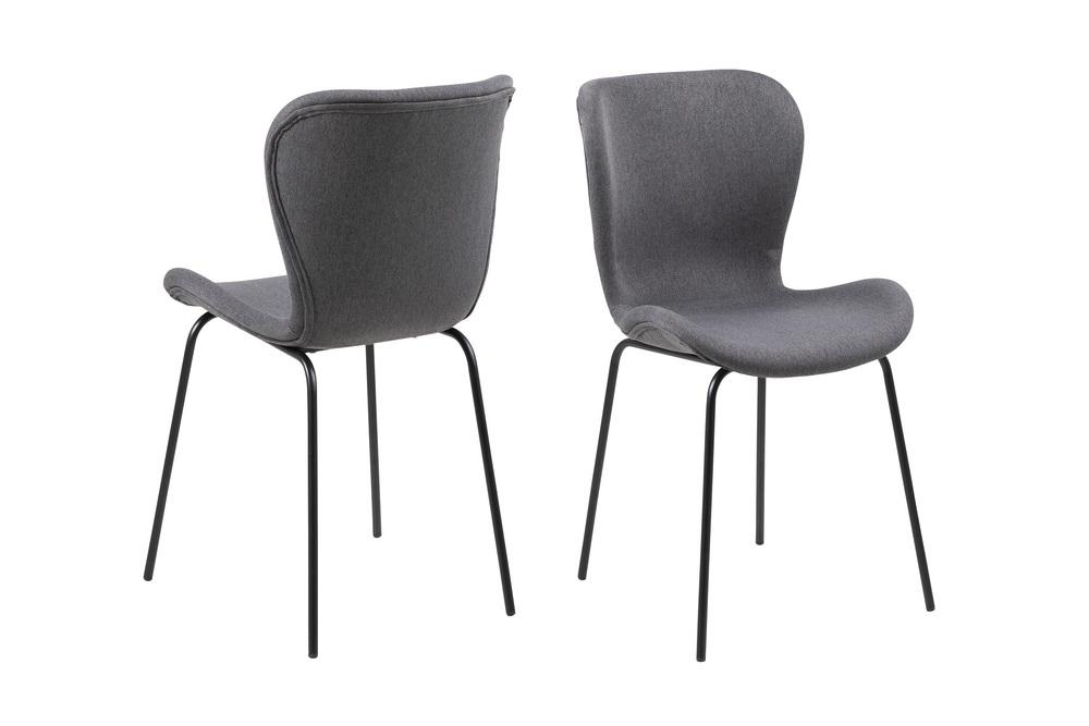 Designová jídelní židle Alejo tmavě šedá
