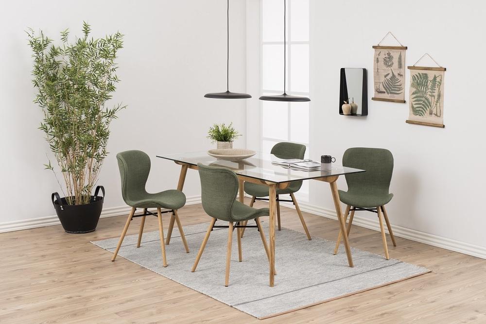 Designová jídelní židle Alejo zelená