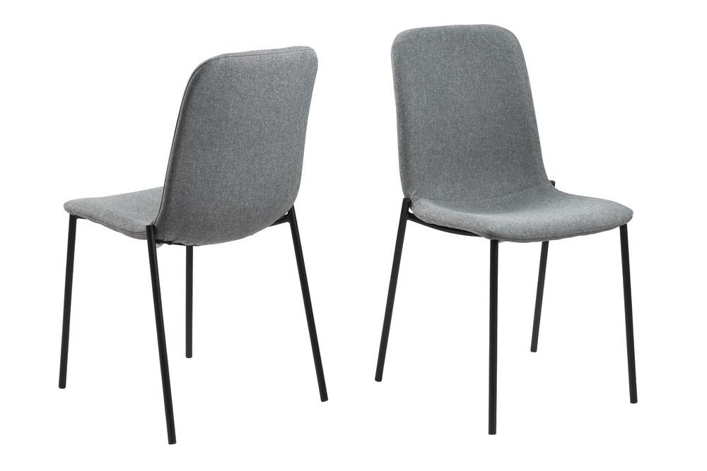 Designová jídelní židle Alpheus světlešedá