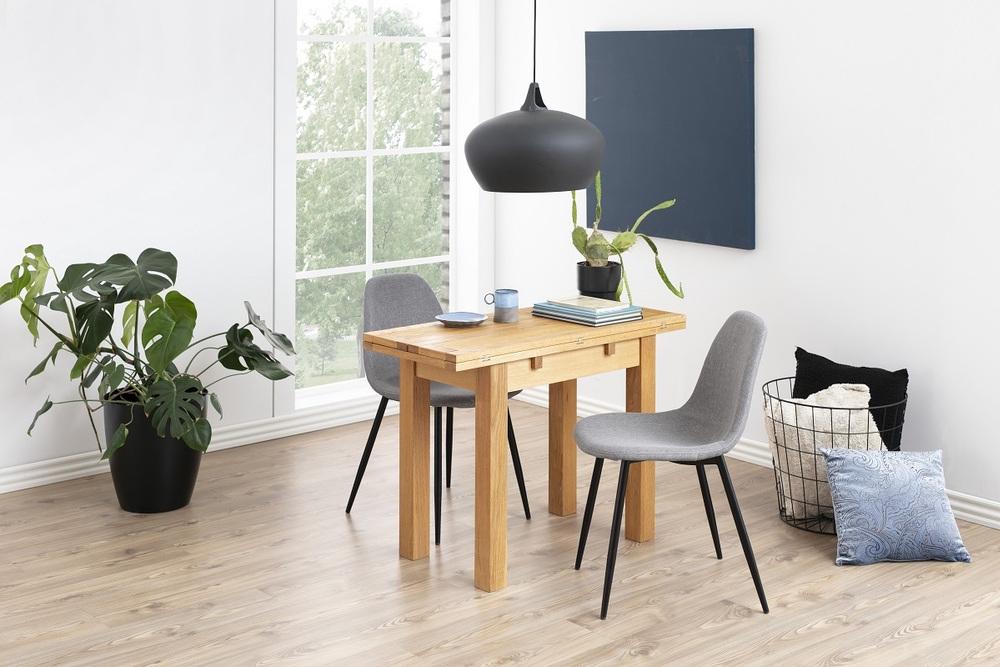 Designová jídelní židle Alphonsus světlešedá / černá