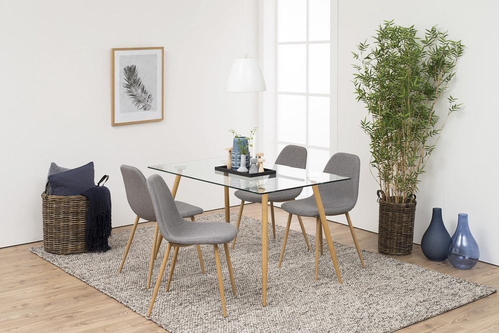 Designová jídelní židle Alphonsus světlešedá