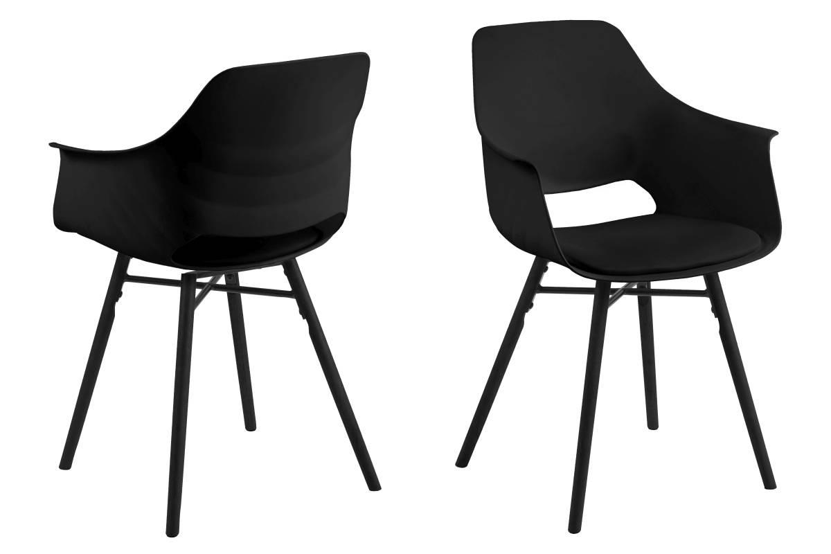 Designová jídelna židle Narda černá