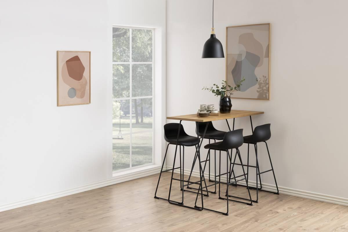 Designová barová židle Nerys černá