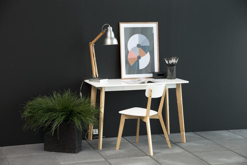 Designová jídelna židle Niecy bílá bříza