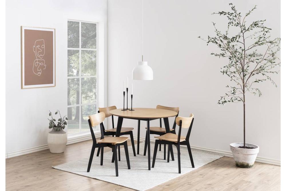 Designová jídelna židle Nieves černá a přírodní