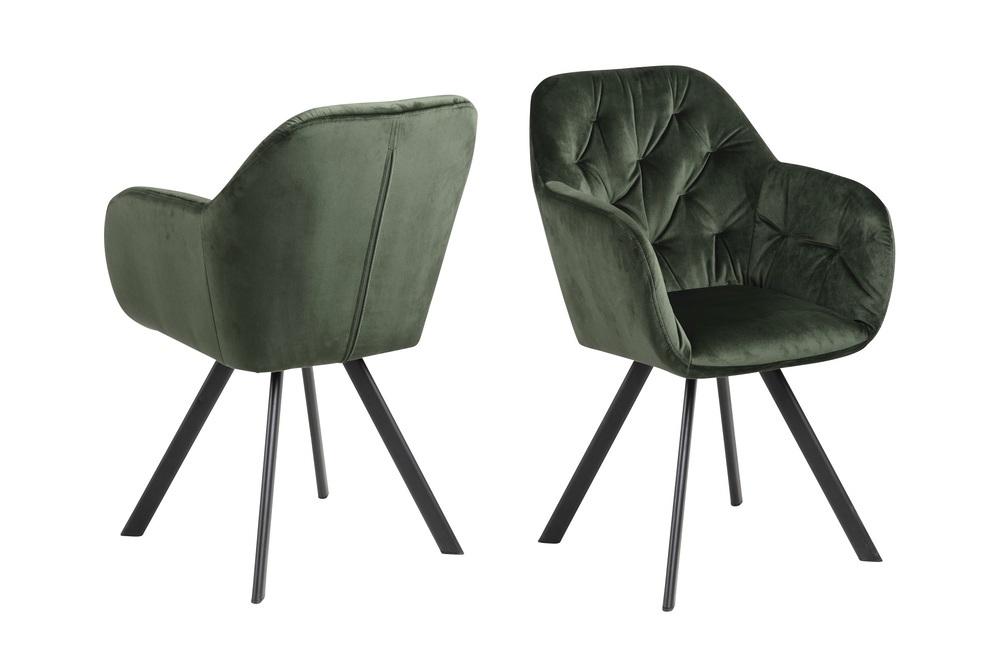 Designová otočná židle Aletris lesnická zelená