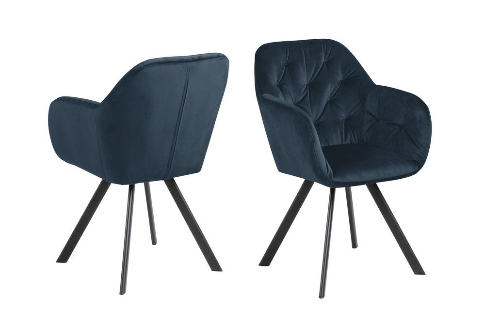 Designová otočná židle Aletris tmavě modrá