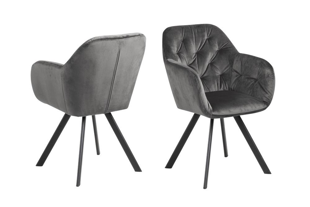 Designová otočná židle Aletris tmavě šedá