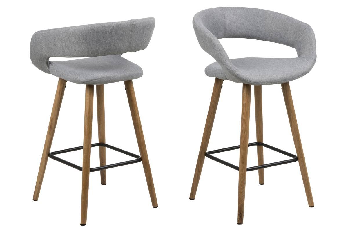 Designová pultová stolička Natania světle šedá