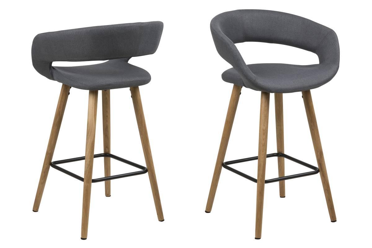 Designová pultová židle Natania tmavě šedá