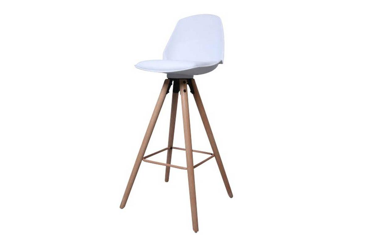 Designová pultová stolička Nerea bílá