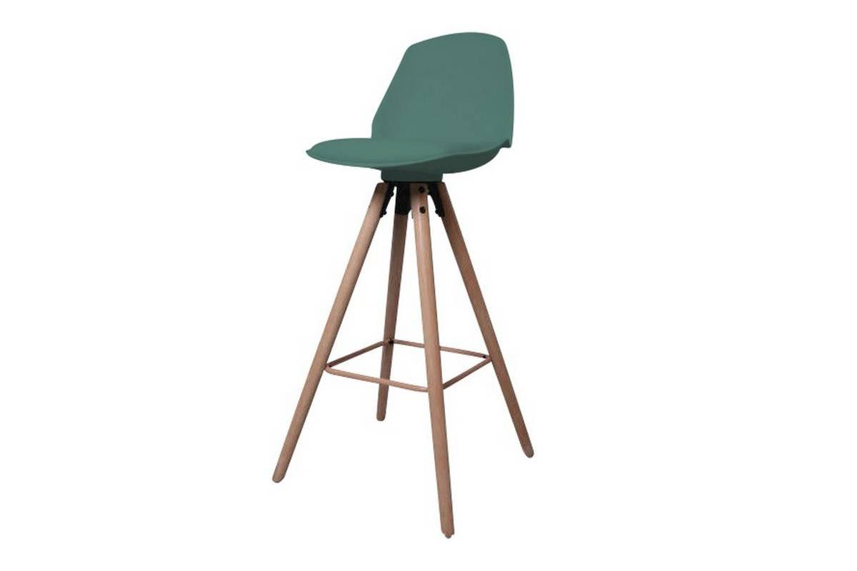 Designová pultová židle Nerea mrazivá zelená