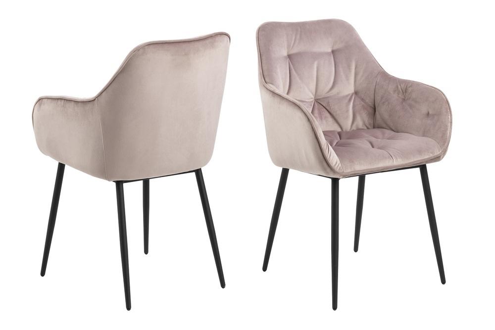 Designové židle Alarik popelavá růžová