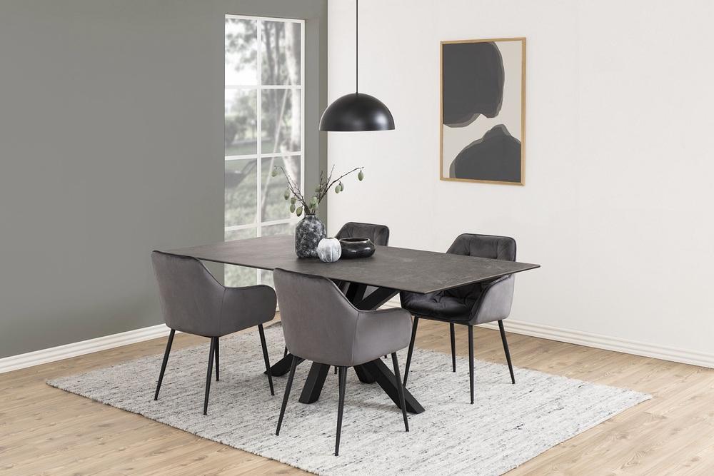 Designové židle Alarik tmavě šedá