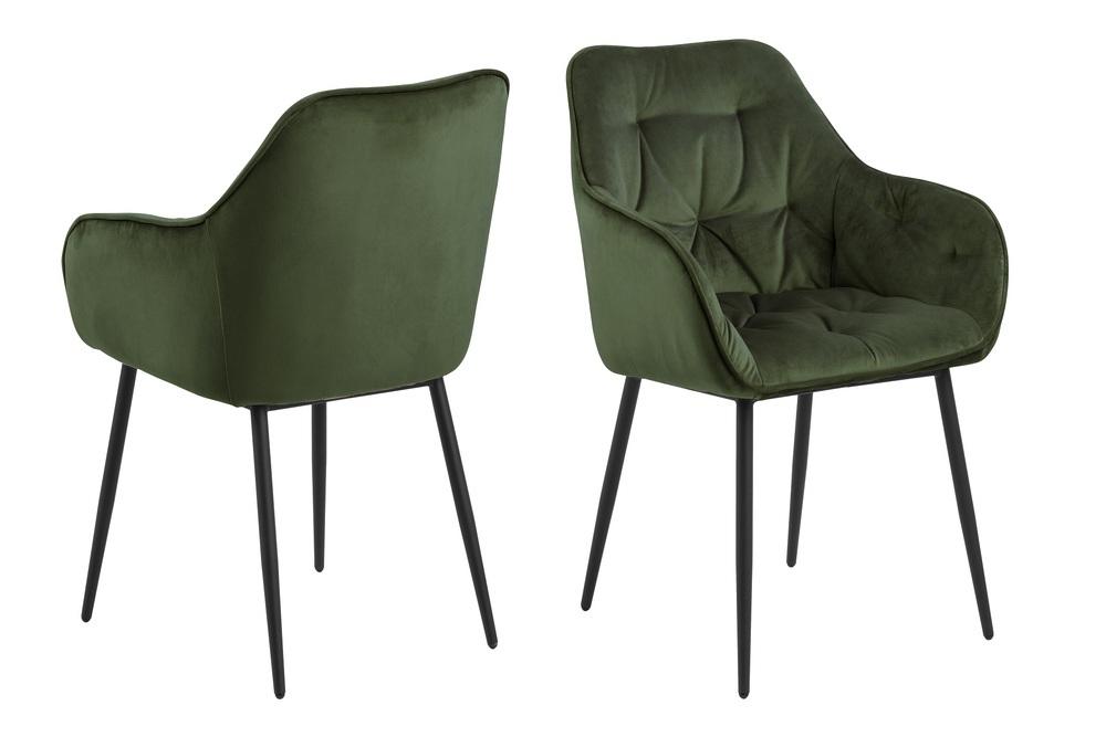 Designové židle Alarik zelená