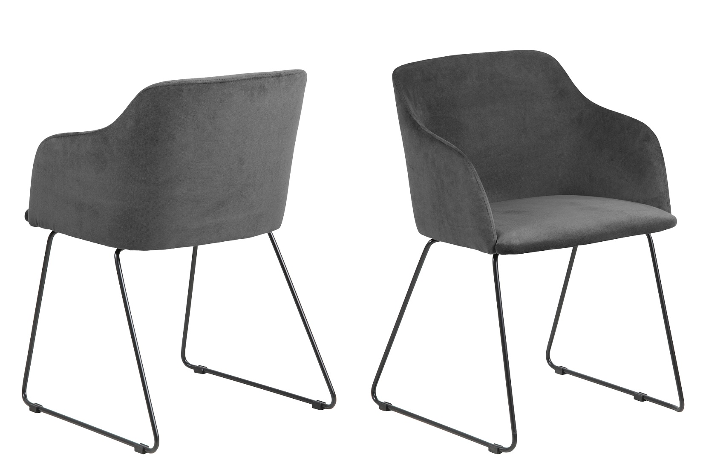Designové židle Aleem antracitová