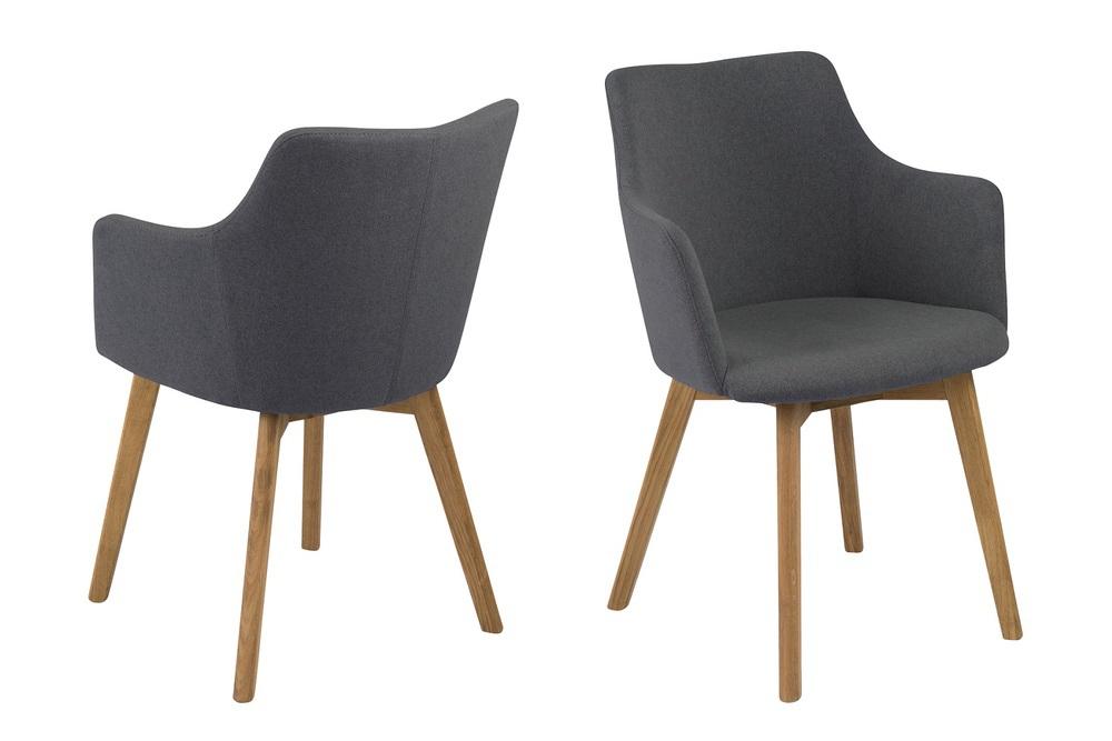 Designové židle Aleksander antracitova