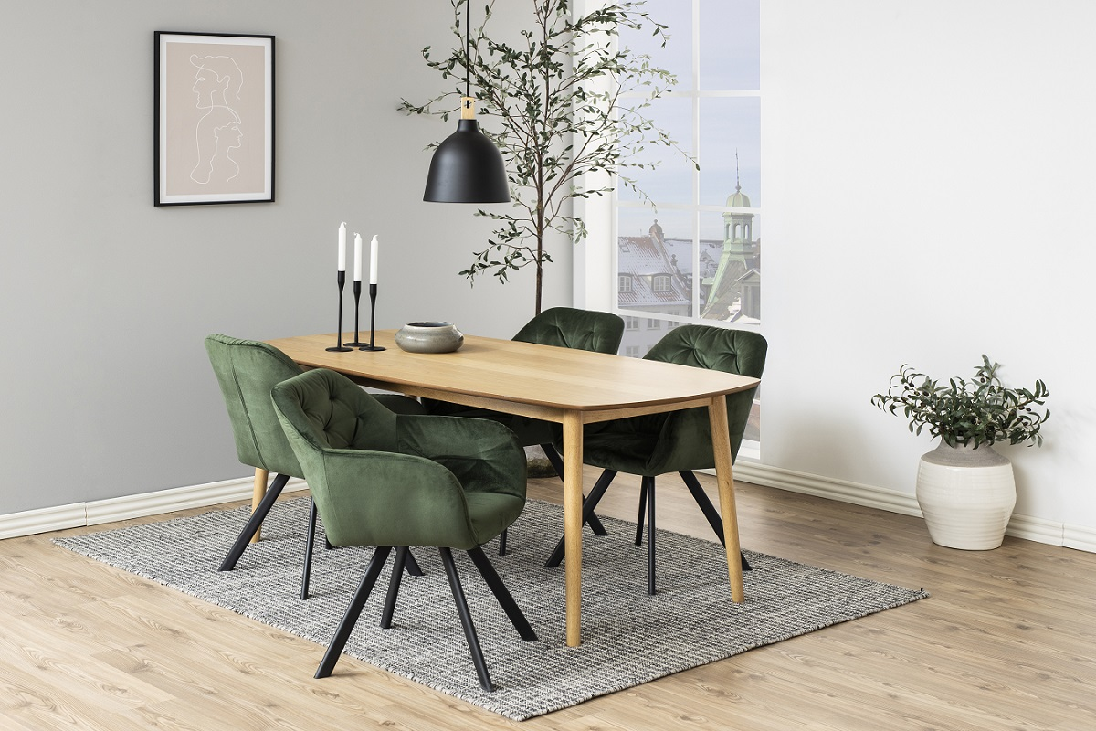 Designová židle Aletris lesnická zelená