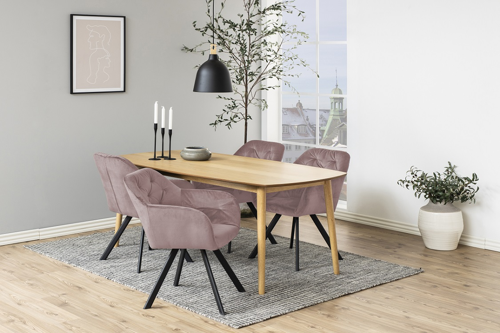 Designová židle Aletris růžová