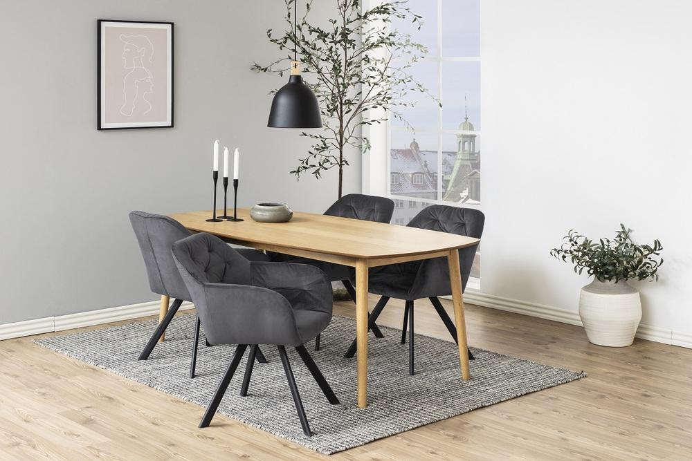 Designová židle Aletris tmavě šedá