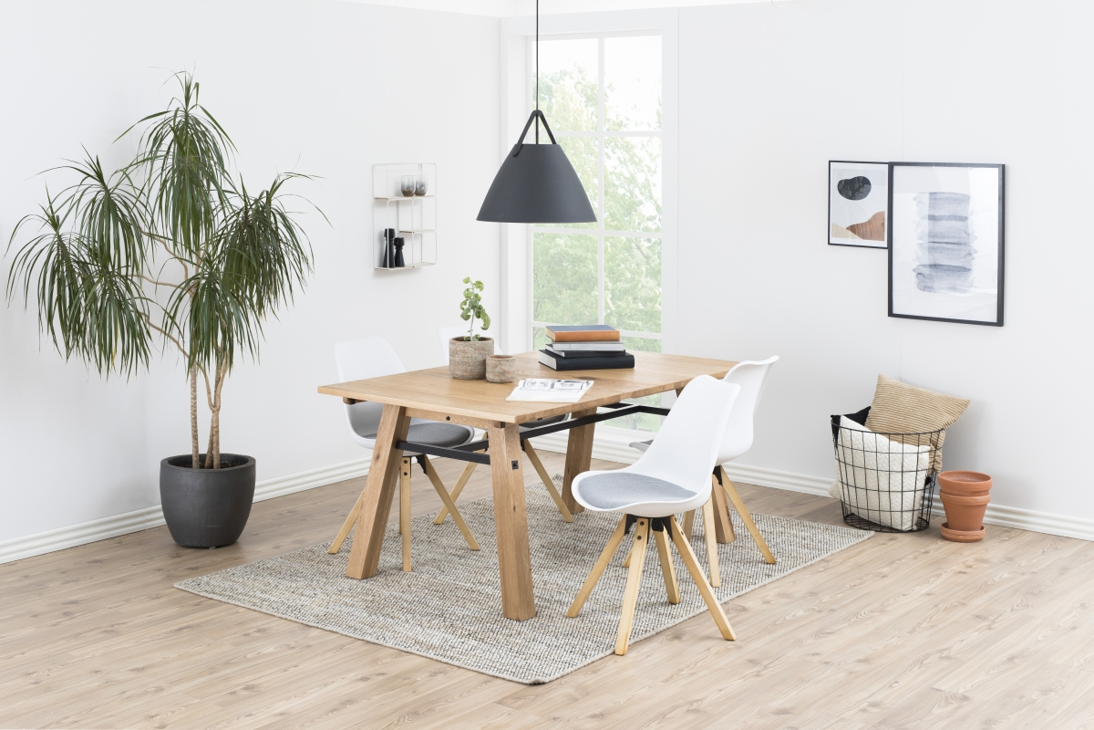 Designové židle Nascha bílá-šedá-přírodní