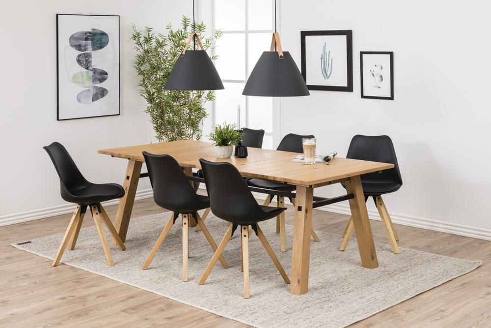 Designové židle Nascha černá-přírodní