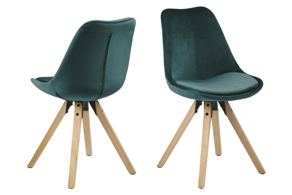 Designové židle Nascha lahvově zelená