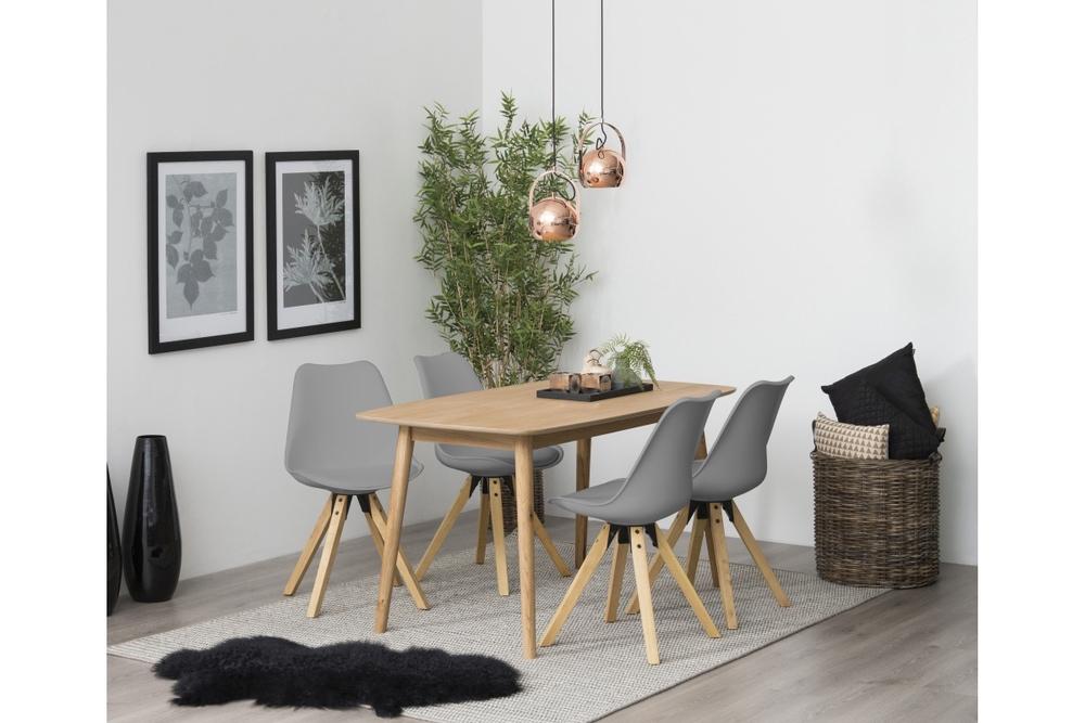 Designová židle Nascha šedá-přírodní