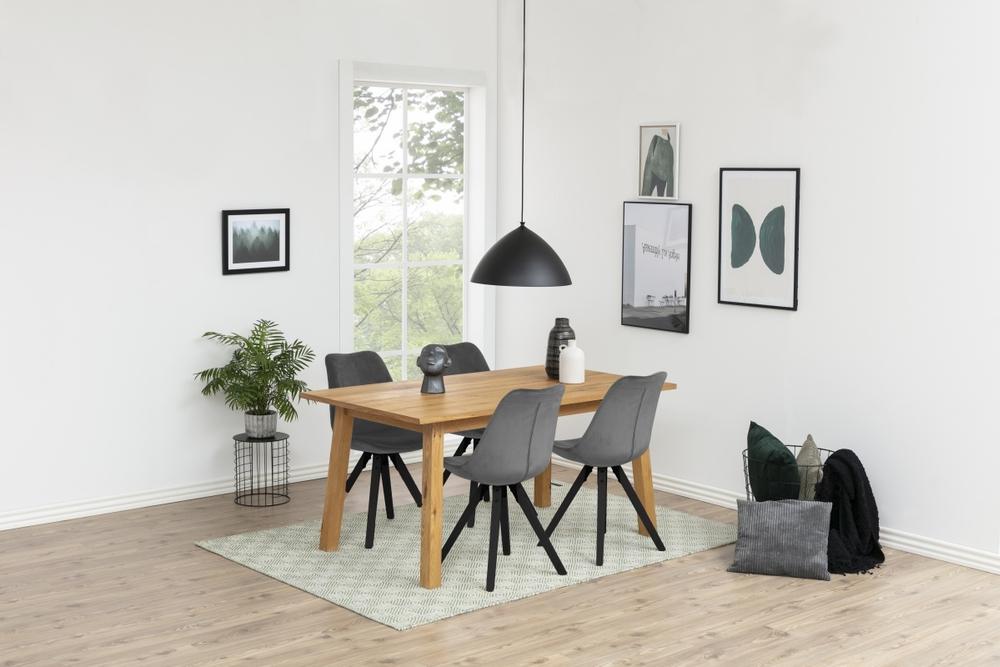 Designové židle Nascha tmavě šedá černá
