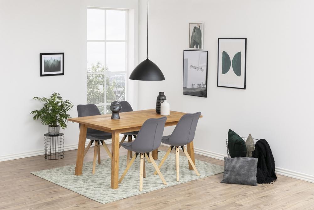 Designové židle Nascha tmavě šedá tkanina