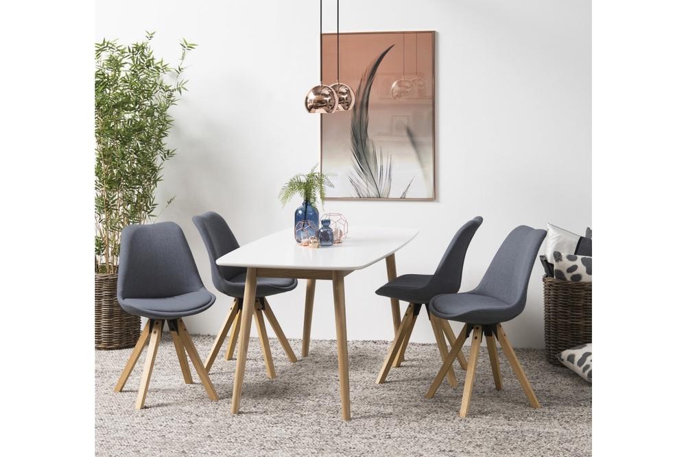 Designové židle Nascha tmavě šedá