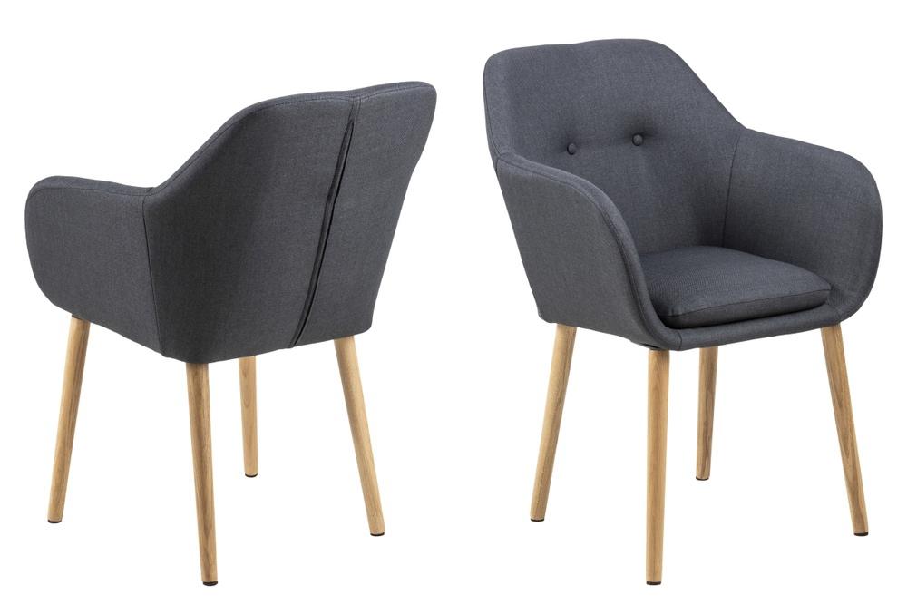 Designová židle Nashira antracitová