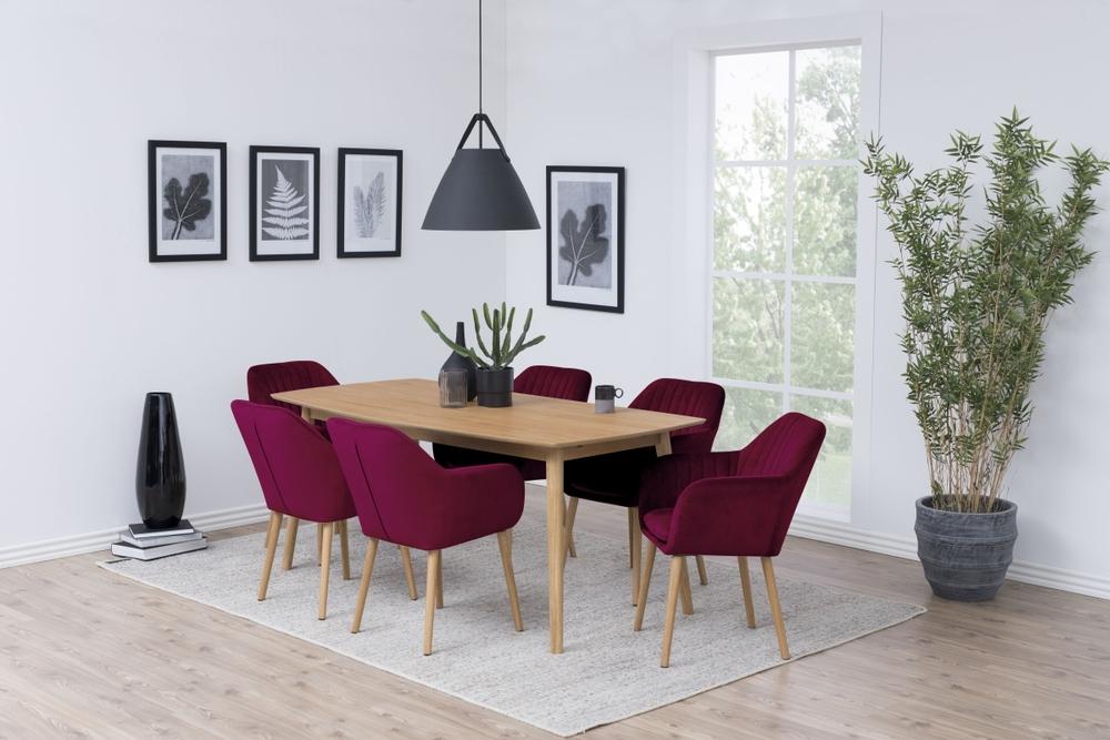 Designová židle Nashira bordová VIC