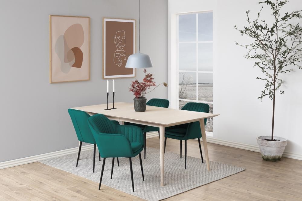 Designové židle Nashira lahvově zelená kovová