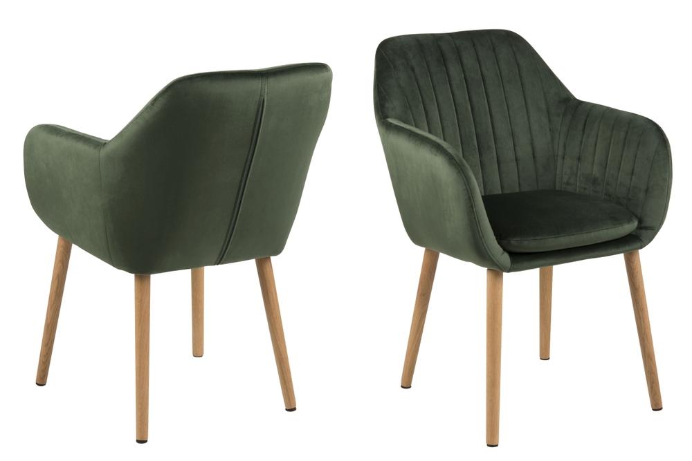 Designové židle Nashira lesní zelená VIC