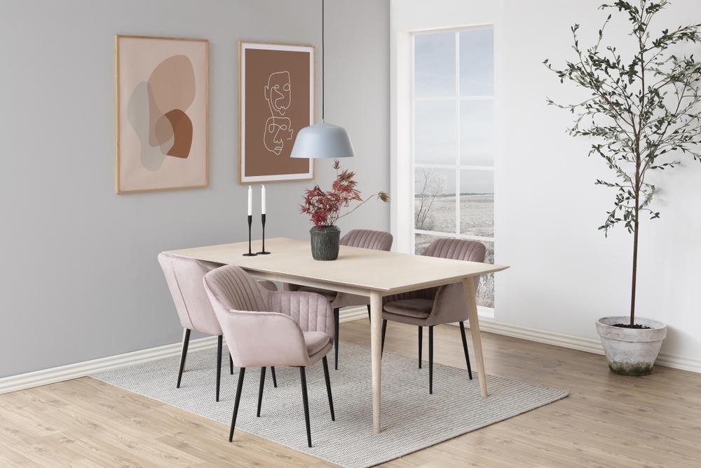 Designové židle Nashira světle růžová kovová