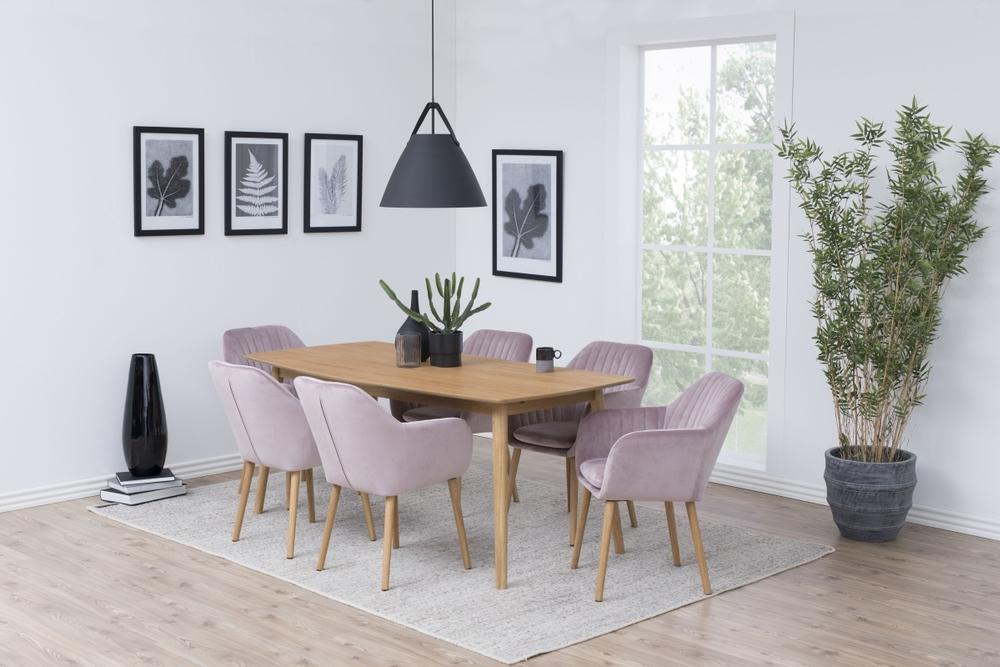 Designové židle Nashira světle růžová VIC
