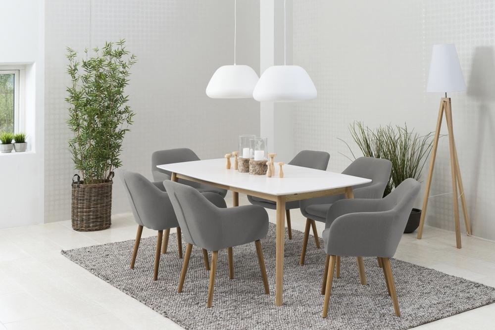 Designové židle Nashira světle šedá
