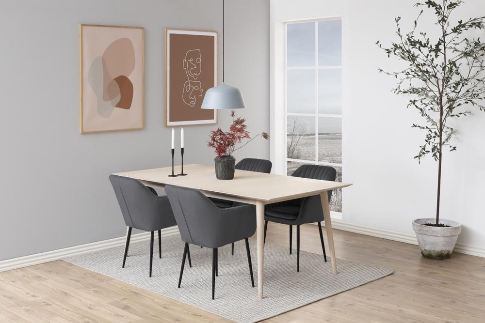 Designové židle Nashira tmavě šedá kovová
