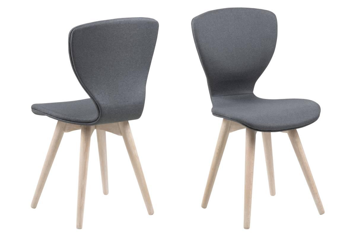 Designová židle Neoma tmavě šedá a bílá